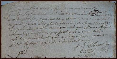 MARCOUT Jean-Baptiste dcd 06.09.1782