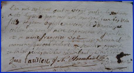 MARCOUT Jean-Baptiste né 06.02.1784