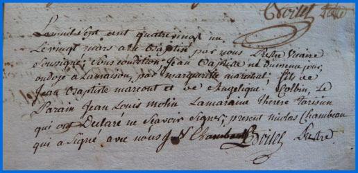 MARCOUT Jean-Baptiste né 20.03.1781