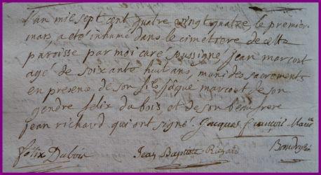 MARCOUT Jean dcd 01.03.1784