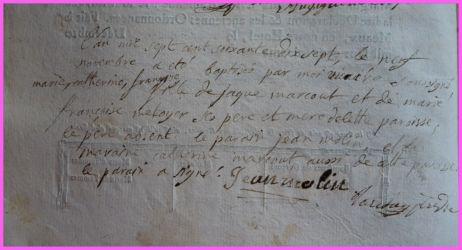 MARCOUT Marie-Catherine Françoise née 09.11.1777