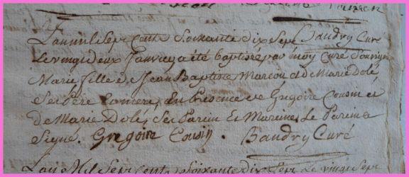 MARCOUT Marie née 22.01.1777