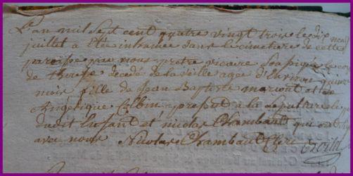 MARCOUT Thérèse dcd 18.07.1783