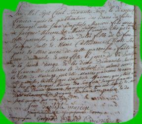 MARCOUT et DOLLE le 19.02.1776