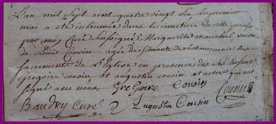 MARESCHAL Marguerite dcd 01.05.1786