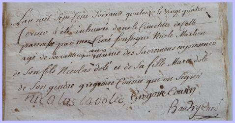 MERLIEU Nicole 1699-dcd 24.02.1774