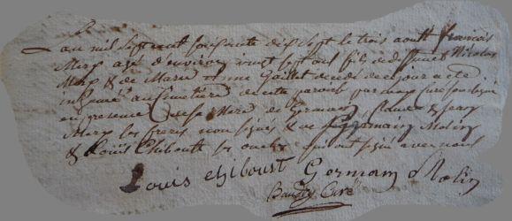 MERY François 1749-dcd 03.08.1777