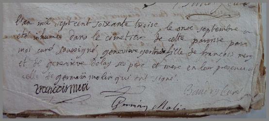 MERY Geneviève Gertrude 1772-dcd 11.09.1773