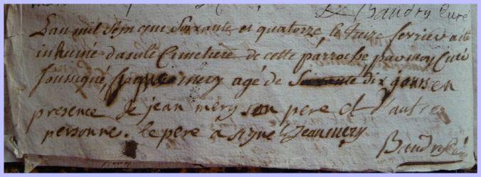 MERY Jacques 1771-dcd 13.02.1774