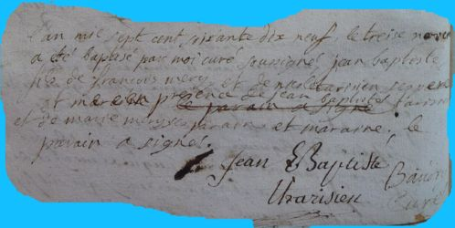 MERY Jean-Baptiste né 13.11.1779
