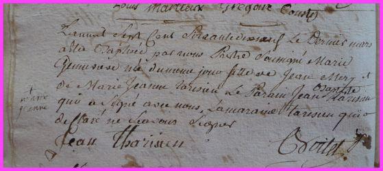 MERY Marie-Geneviève née 30.03.1779
