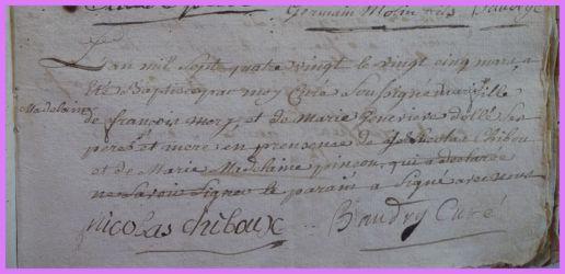MERY Marie-Madeleine née 25.03.1780