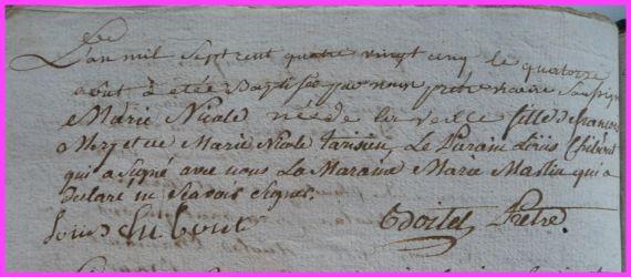 MERY Marie-Nicole née 14.08.1785