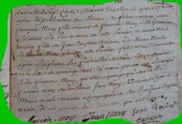 MERY et TARISIEN le 04.02.1777