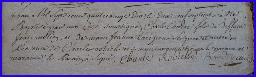 MOLIN Charles Théodore né 19.09.1790