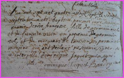 MOLIN Denise Françoise née 25.09.1787