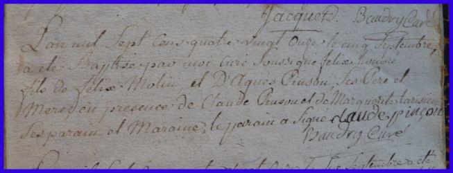MOLIN Félix Honoré né 05.09.1791