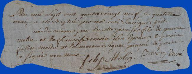 MOLIN Félix né 14.05.1789