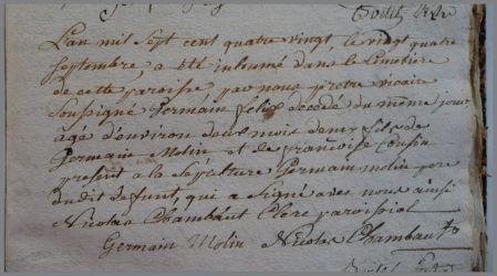MOLIN Germain Félix dcd le 24.09.1780