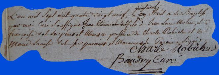 MOLIN Jean-Etienne Hubert né 29.08.1789