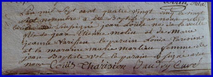 MOLIN Jean-Louis né 27.11.1785