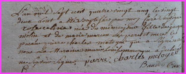 MOLIN Rose Célline née 22.08.1785