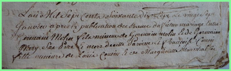 MOLIN et COUSIN le 27.01.1777 N°1