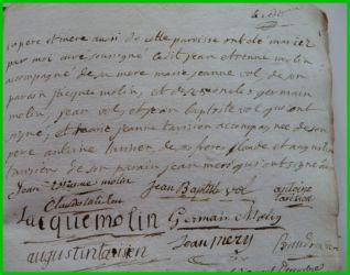 MOLIN et TARISIEN le 23.11.1784 N°2