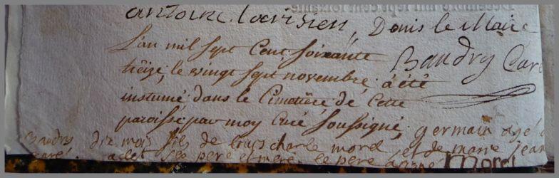 MOREL Germain dcd 27.11.1773