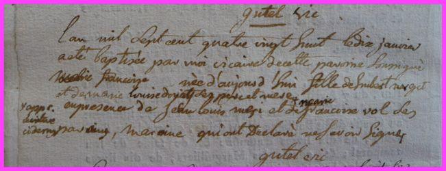 Marie-Françoise X née 10.01.1788
