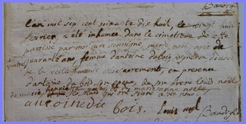 NOËL Marie 1734-dcd 28.02.1778