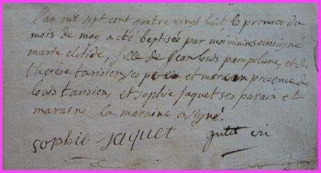 PAMPELUNE Marie-Clotilde née 01.05.1788
