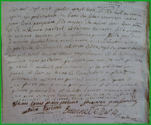 PAMPELUNE et TARISIEN 18.11.1783