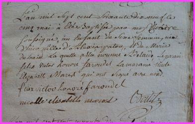 PATOU Adélaïde née 05.05.1779