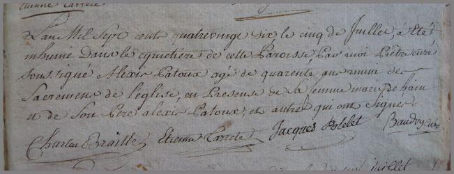PATOU Alexis 40 ans dcd 05.07.1790