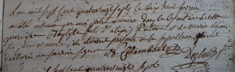 PATOU Batiste dcd 18.02.1787