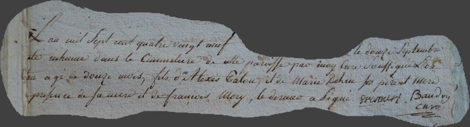 PATOU Jean-Léon dcd 12.09.1789