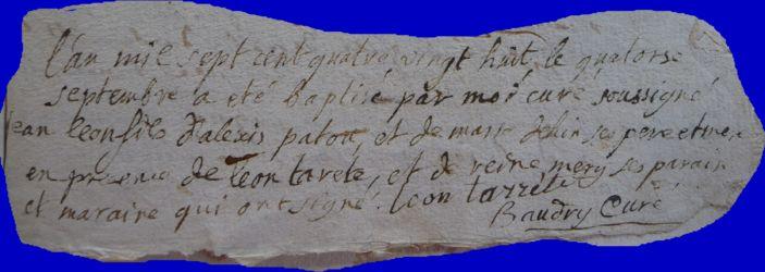 PATOU Jean-Léon né 14.09.1788