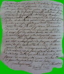 PATOU et DEHAIN LE 28.07.1778