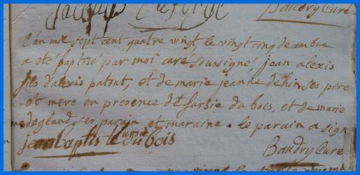 PATOUT Jean-Alexis né 25.12.1780