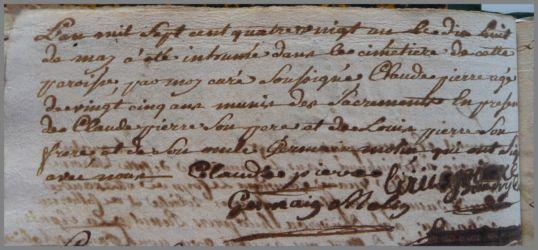 PIERRE Claude 25 ans dcd 18.03.1871