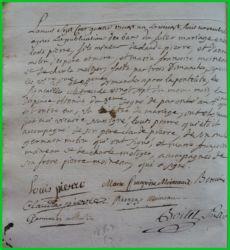 PIERRE et MOINEAU le 28.11.1781