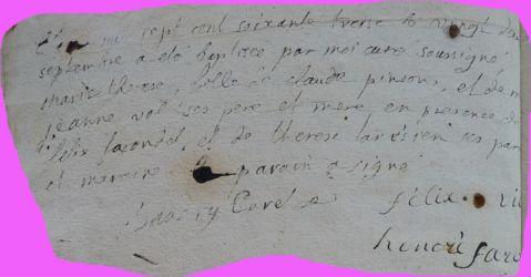 PINSON Marie-Thérèse née 22.09.1773