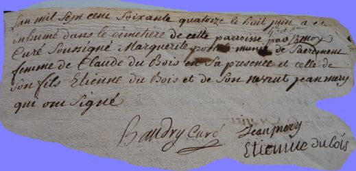 POSTOLLE Marguerite 1711-dcd 08.06.1774