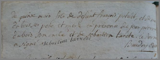 POTELET François dcd 22.07.1790 N°2