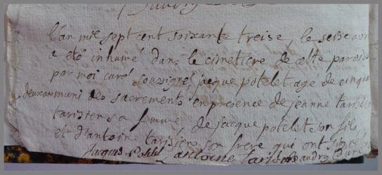 POTELET Jacques 1720-dcd 16.04.1773