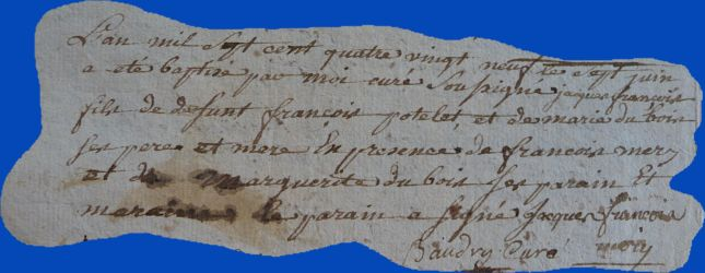 POTELET Jacques François né 07.06.1789