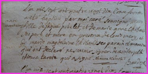 POTELET Marie-Anne Magdelaine née 11.02.1790