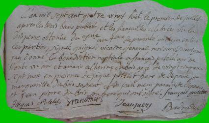 POTELET et DUBOIS le 01.07.1788