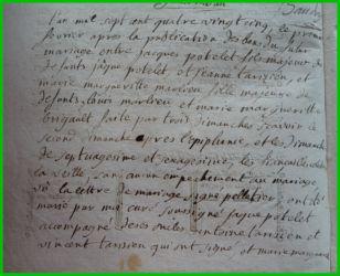 POTELET et MELIEU le 01.02.1785